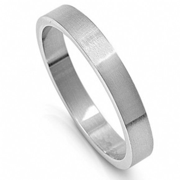 Unisex None Unisex 4mm Engravable Stainless Steel Band