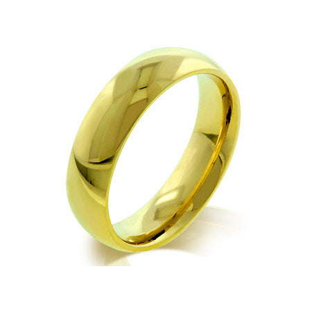 Unisex None Unisex 5mm 14K Gold Stainless Steel Wedding Band