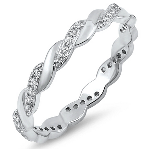 infinity twisted eternity band