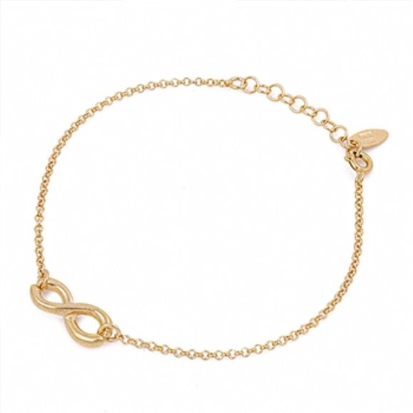 Isabel's Gold Plated Sterling Silver Infinity Bracelet