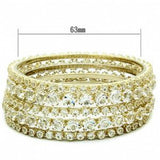 Leslie's 5 Piece Gold Plated Round Crystal Bangle Set