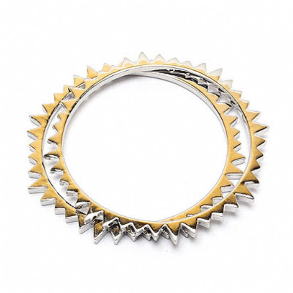 Presely's Silver Spiked Bangles-Set of Two - Final Sale