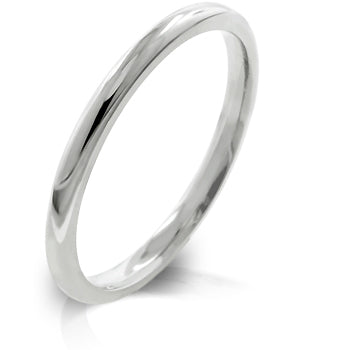 Womens None 2 mm Stainless Steel Wedding Band
