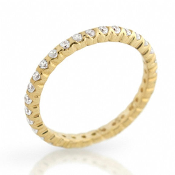 Womens None Anna's Gold Plated Sterling Silver Eternity Band