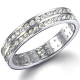 Womens None Celine's Double Row Imitation Diamond Eternity Ring