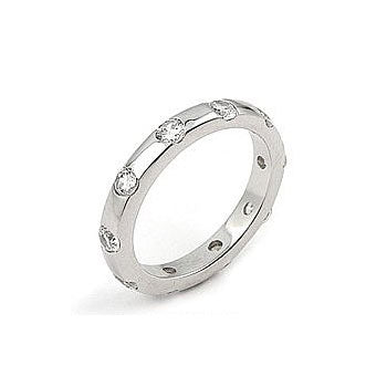 Womens None Erroll's Cubic Zirconia Eternity Ring