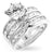 Womens None Formal Silver Engagement Set