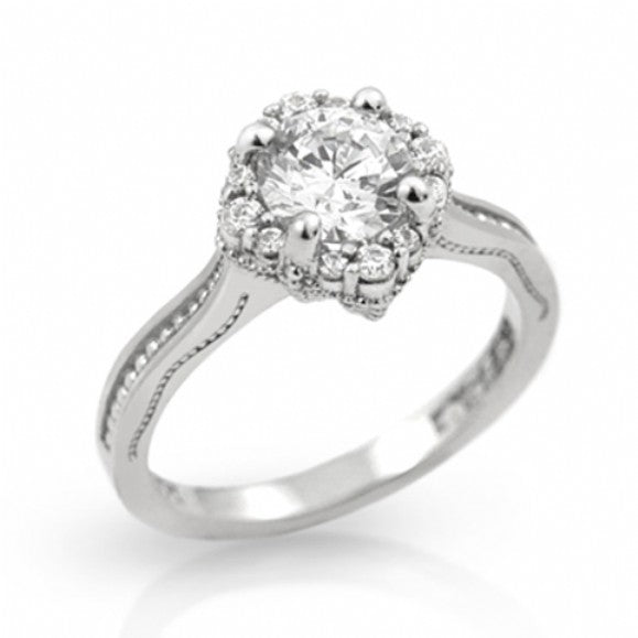 Womens None Janet's Vintage Cluster Style CZ Engagement Ring