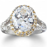 Womens None Katie's Imitation Diamond Oval Engagement Ring 2