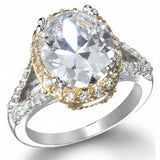 Womens None Katie's Imitation Diamond Oval Engagement Ring 7