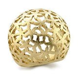 Womens None Paola's Matte Gold Cut Out Flower Design Dome Ring