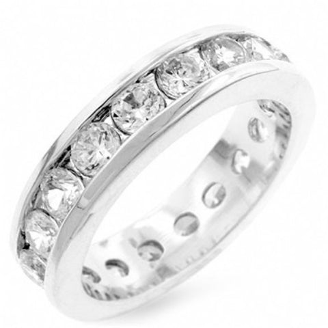 Womens None Riley's Lustrous Channel Set Cubic Zirconia Eternity Band
