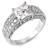 Sharlotte's Exquisite Vintage Style Princess Cut CZ Ring - None