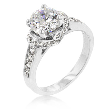 Womens None Silver Regal Ring