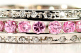 Womens None Sterling Silver Pink & Diamond CZ Dream Ring 4