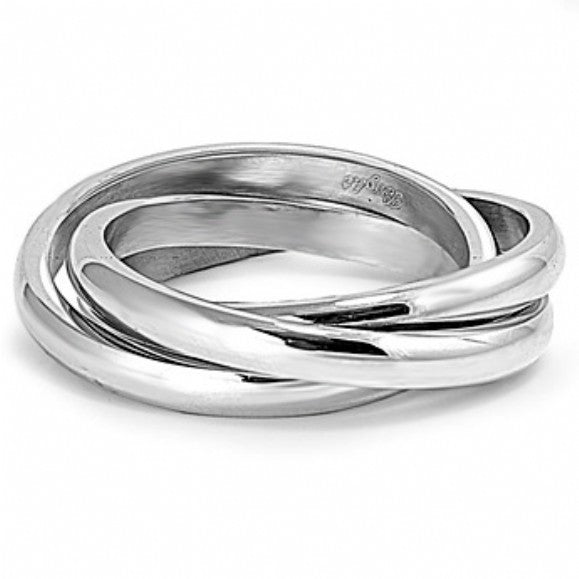 Womens None Tiffani's Triple Stainless Steel Rolling Ring