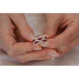 Womens None Victorian Style Ruby Red Ring 7