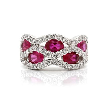 Womens None Victorian Style Ruby Red Ring