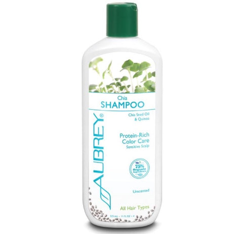 Aubrey Organics Chia Shampoo Protein-Rich Sensitive Scalp Unscented