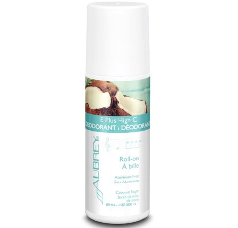 Aubrey Organics E Plus High C Deodorant - Coconut Sugar