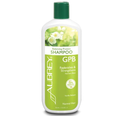 Aubrey Organics GPB Shampoo Replenishes & Strengthens Normal Hair Vanilla Balsam