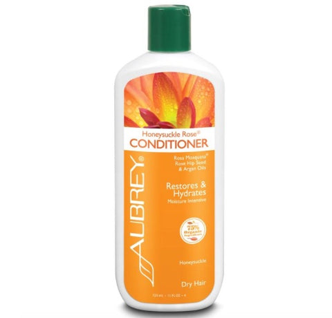 Aubrey Organics Honeysuckle Rose Conditioner Restores & Hydrates Moisture Intensive Dry Hair