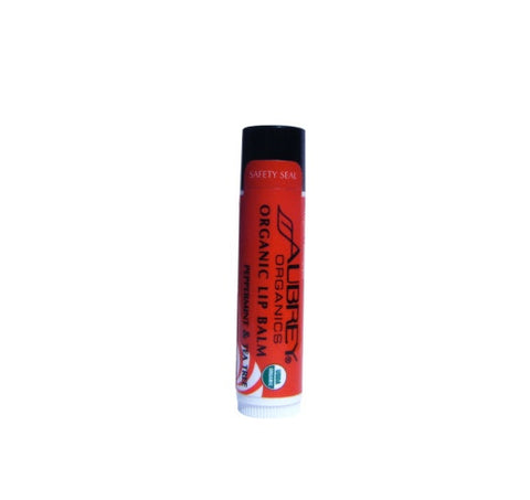 Aubrey Organics Organic Lip Balm - Peppermint & Tea Tree