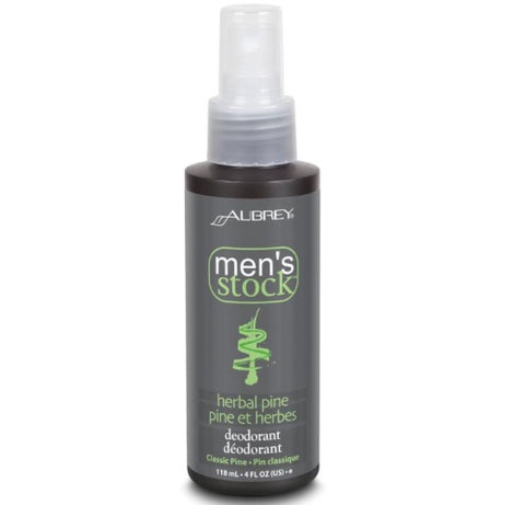 Aubrey Organics Men's Stock Natural Dry Pine Deodorant Spray