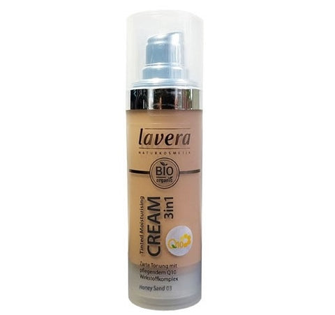 Lavera Tinted Moisturizer Cream 3 in 1 Q10 - Honey Sand