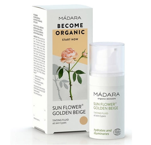 Madara Organic Skin Care Sun Flower Tinting Fluid - Golden Beige Travel Size