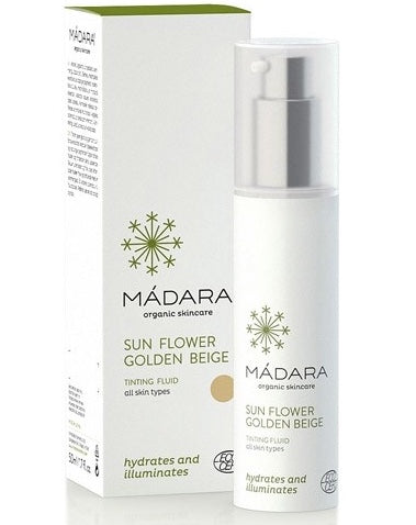 Madara Organic Skin Care Tinting Fluid Sunflower Golden Beige