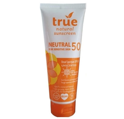 True Natural SPF50 Sunscreen Neutral Unscented Broad Spectrum
