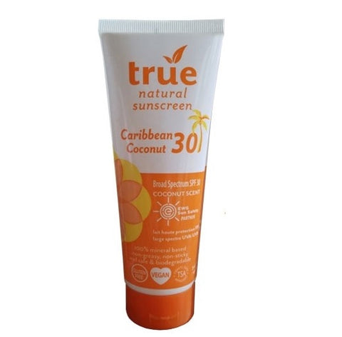 True Natural Natural Sunscreen SPF30 Caribbean Coconut Scent