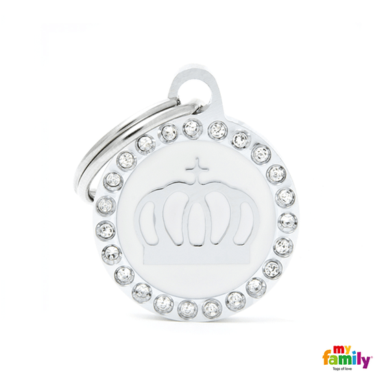 My Family Circle & Crown Pet ID Tag | Pisces Pets