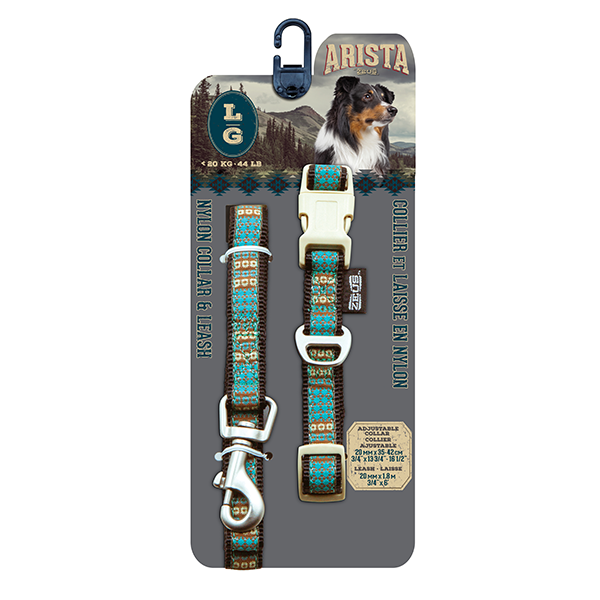 Arista Indie Collar & Leash Set - Available in 3 Sizes | Pisces Pets