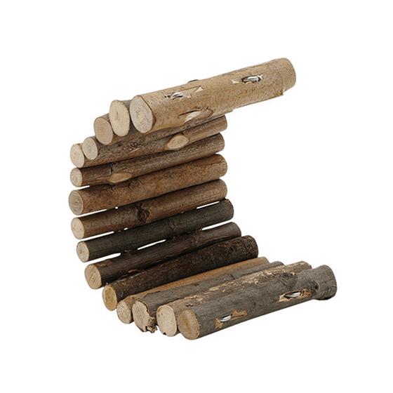 Living World TreeHouse Real Wood Logs Small | Pisces Pets