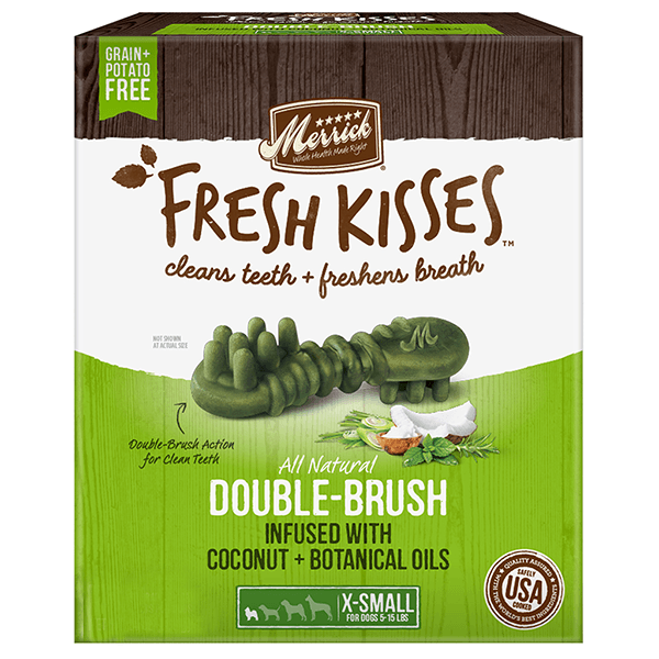 Merrick Fresh Kisses Coconut Oil X-Small - Available in Multiple Sizes | Pisces Pets
