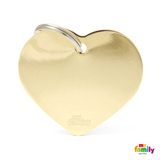 My Family Gold Heart Pet ID Tag | Pisces Pets