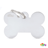 My Family Chrome Bone Pet ID Tag | Pisces Pets