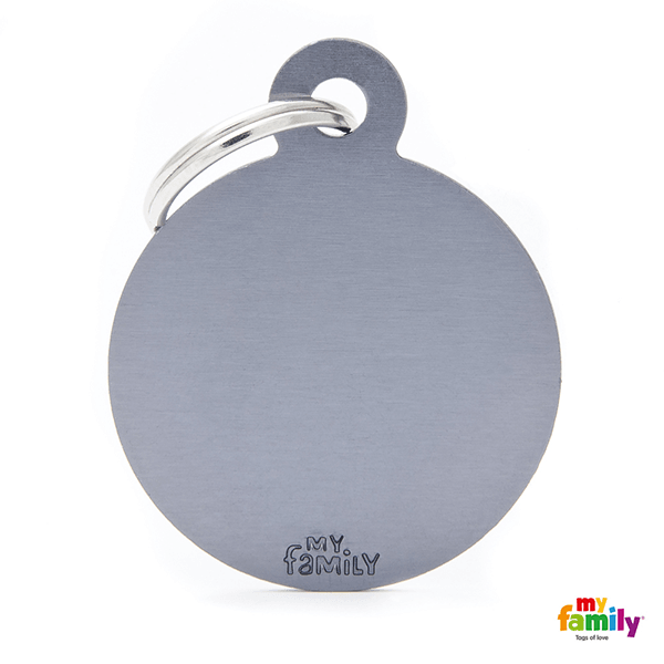 My Family Big Circle Aluminum Pet ID Tag | Pisces Pets
