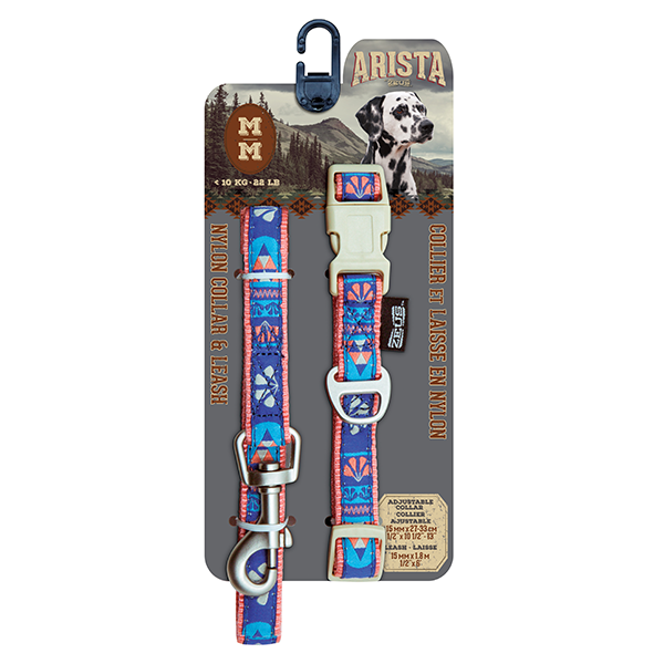 Arista Flamenco Collar & Leash Set - Available in 3 Sizes | Pisces Pets