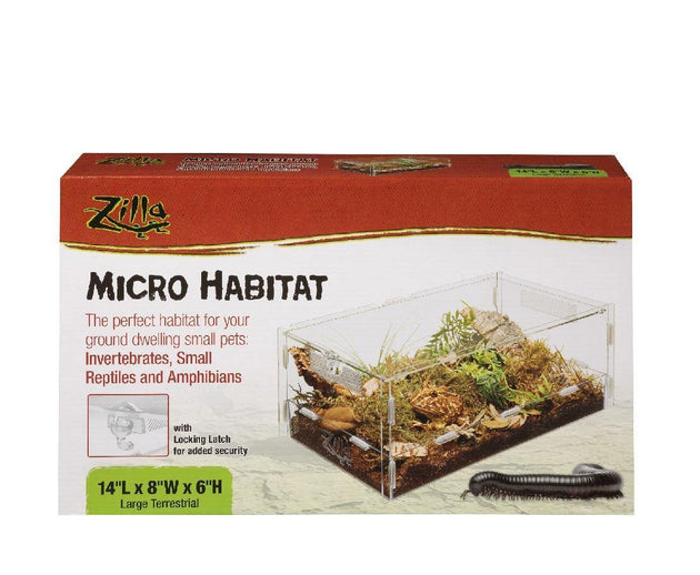 Zilla Micro Habitat Terrestrial - Available in Two Sizes