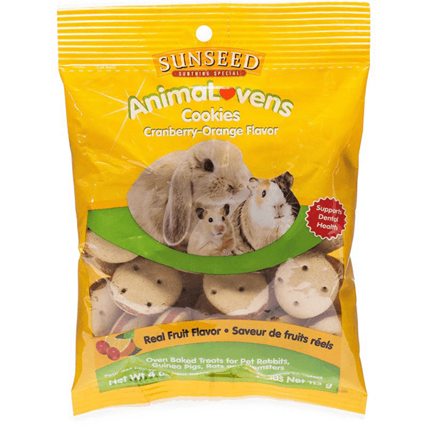 Sunseed AnimaLovens Cranberry & Orange Cookies - 113 g | Pisces Pets
