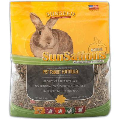 Sunseed SunSations Rabbit Formula - 1.6 kg | Pisces Pets