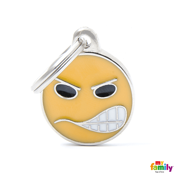 My Family Angry Emoticon Pet ID Tag | Pisces Pets