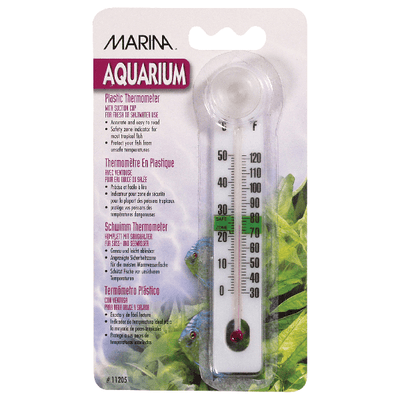 Marina Liquid Crystal Plastic Thermometer | Pisces Pets