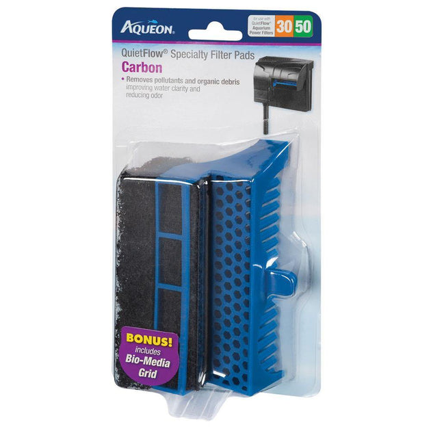Aqueon Quiet Flow 30/50 Filter Pads Carbon | Pisces Pets