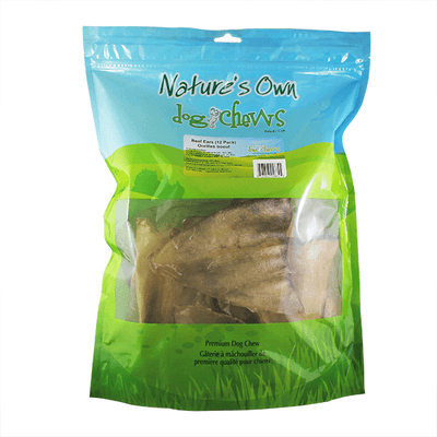 Nature's Own Beef Ears 12 Pack | Pisces Pets