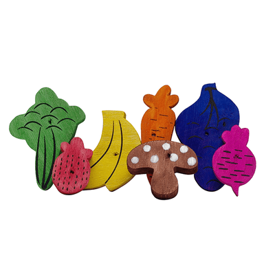 Living World Nibblers Fruit & Veggie Mix Wood Chews