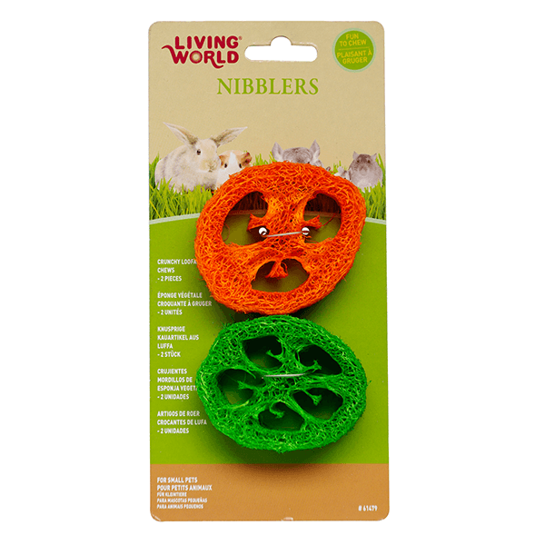 Living World Nibblers Sliced Loofah Chews
